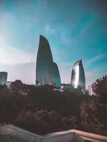 Baku Azerbaijan. Flame Towers. #travel #holiday